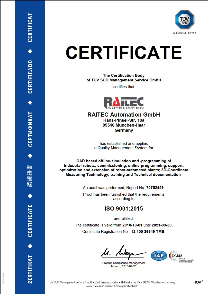 RAITEC_AUTOMATION_GMBH_TUEV_Zertifikat_en
